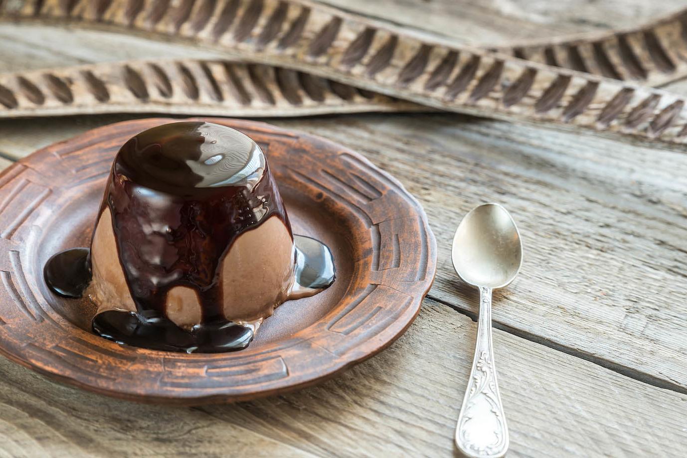 Panacotta au chocolat avec café Litha Espresso
