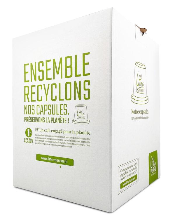 Box pour recyclage capsules Litha Espresso
